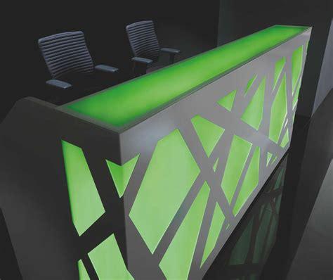 Zig Zag Reception Desk Zig Zag Reception Desk By Mdd Reception White Dda Centre With Blue Back Light Mode Office