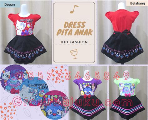 Dress Anak Perempuan Desain Karakter Nonoko 6 Pcs grosir dress pita anak perempuan karakter murah 21ribu