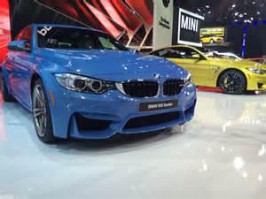 detroit auto show 2014 bmw m3 f80 in yas marina blau