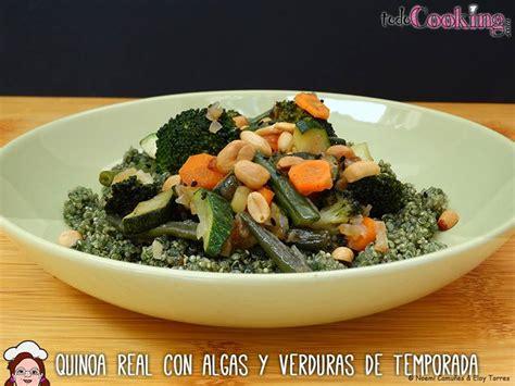 cocinar quinoa real quinoa real con algas y verduras de temporada receta vegana