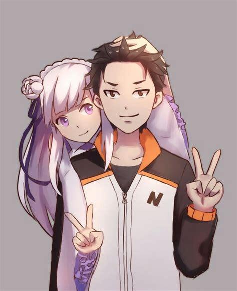 subaru and emilia subaru x emilia anime amino