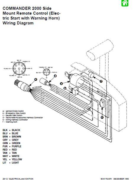 mercury  side mount control box wiring diagram