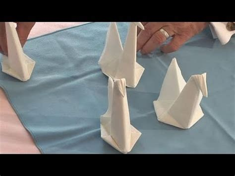 Paper Napkin Folding Swan - how to make a swan napkin from scribble path