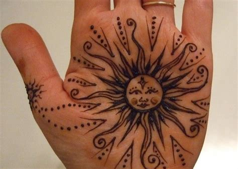 henna pattern sun ink pinterest