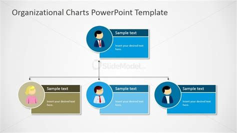 organization powerpoint template powerpoint two level org chart with textbox placeholders