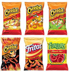 are hot funyuns halal chips cheetos flamin hot cheddar jalapeno crunchy dinamita