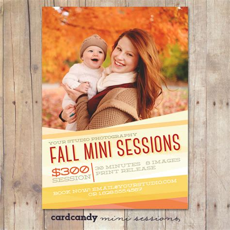 Fall Mini Session Template Flyer Templates On Creative Market Mini Flyer Template