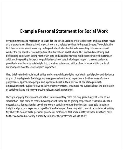 9 work statement exles sles