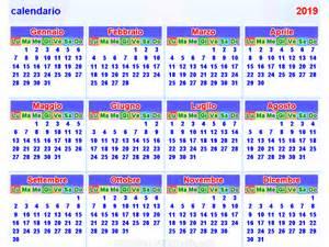 Calendario 2019 Con Festività Calendario 2019 Orizzontale E Verticale