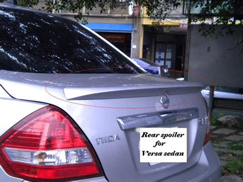 nissan tiida trunk space carbon fiber trunk spoiler nsn versa n type tiida sedan
