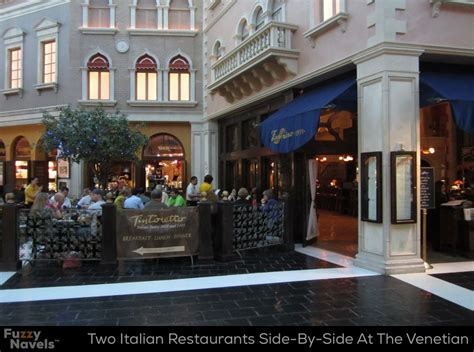 two italian restaurants confusingly looking like one at
