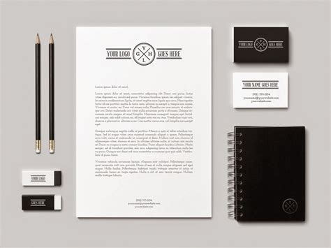 template mockup 95 free stationery branding mockup psd for identity