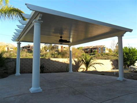 Free Standing Patio Cover by Free Standing Solid Alumawood Patio Cover Riverside Ca