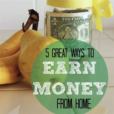 5 great ways to earn money from home as