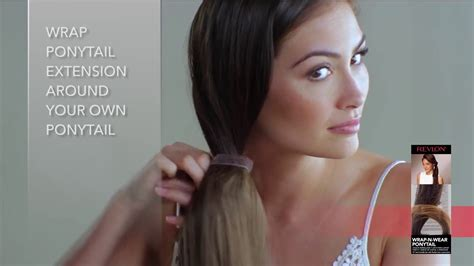 how to put on revlon ready to wear fabulength 18 inch extensions revlon ready to wear quot wrap n wear ponytail quot youtube