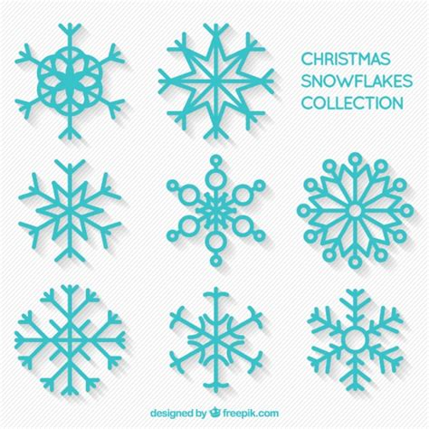 decorative snowflakes pack vector free download