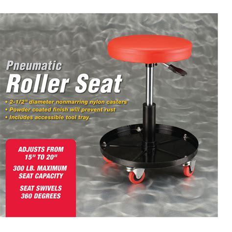 pneumatic roller seat harbor freight pneumatic adjustable rolling stool seat