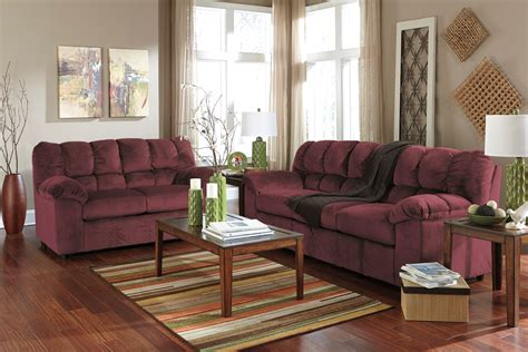 Living Rooms With Sofas by Julson Burgundy Living Room Set From 26602 38 35