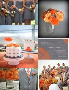 orange wedding colors the bees times three wedding wednesday orange and gray