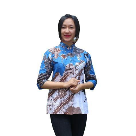 Baju Atasan Wanita Blouse Batik Bahan Katun Kode 1071 baju batik wanita blouse motif original sofi khas pekalongan bahan katun harga murag grosir