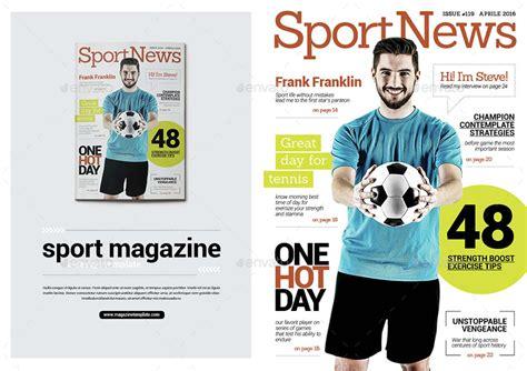 layout konten majalah template desain majalah olahraga sepak bola premium download
