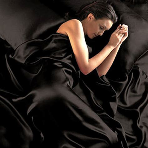 Pure Opulence Black Satin Sheets Queen Size Soft Silk Feel Bedding 4pc