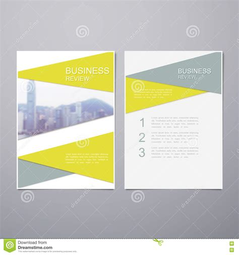 business review brochure stock vector illustration of
