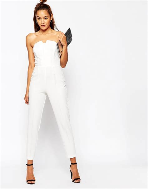 Asos Origami Jumpsuit - asos pleated origami jumpsuit in white lyst
