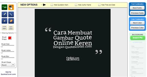 membuat gambar quote  keren  quotescovercom