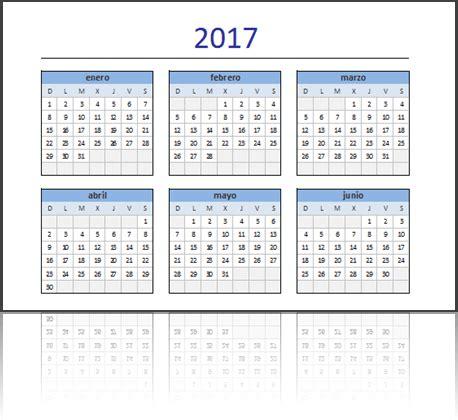 Calendario Por Semanas 2017 Excel Descarga El Calendario 2017 En Excel Excel Total