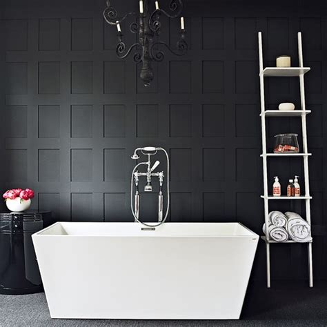 Contemporary Black And White Bathroom Black And White Black And White Modern Bathroom