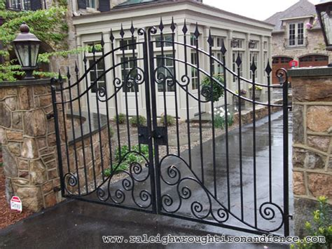 wrought iron gate raleigh wrought iron and fence co custom wrought iron gates in raleigh nc durham chapel hill
