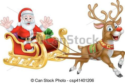 animated photos of christmas santa claus with reindeer santa and reindeer sleigh santa claus character in his sled