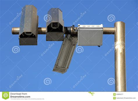 outside security three outside security cameras stock photo image 60865077