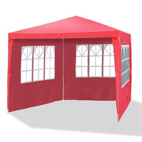 pavillon rot gartenpavillon 3 x 3 m himbeer rot allzweckzelt pavillon