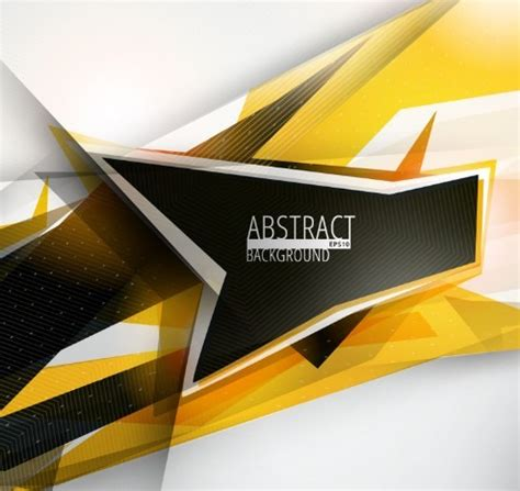 black yellow wallpaper vector free abstract black yellow geometric background vector
