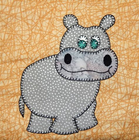 patterns for applique hippo pdf applique pattern zoo animal quilt pattern