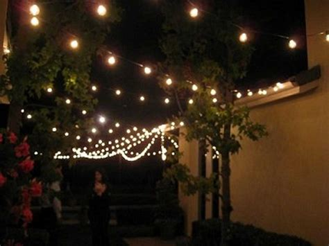 string lights patio lighting backyard outdoor indoor  watt  clear bulbs set ebay