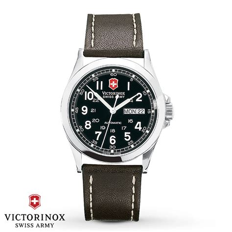 Swiss Army Doubleclock Lightbrown victorinox swiss army automatic infantry 24695