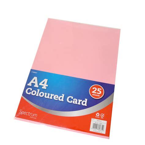 Card A4 a4 card coloured 25 play resource