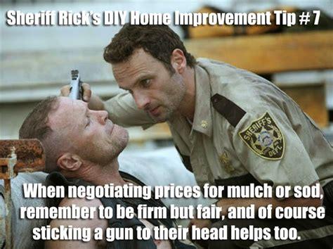 Diy Meme - funny meme mories sheriff rick grimes diy home