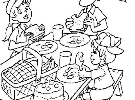 picnic coloring pages coloring pages family picnic coloring home