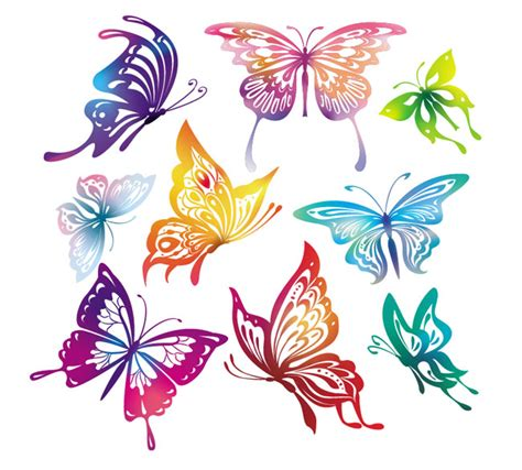 doodle kites meaning butterfly vector free vector site free vector
