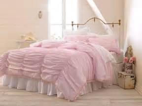 nib simply shabby chic rouched 3 piece pink full queen comforter set shabby chic love it