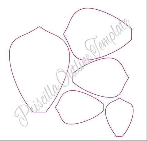 Giant Paper Flowers Giant Paper Flower Templates Paper Flower Template Printable