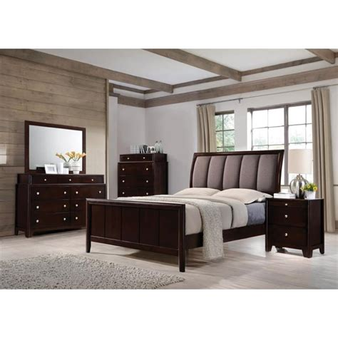 Coaster King Bedroom Set by Coaster Maddison 4 Upholstered King Bedroom Set In
