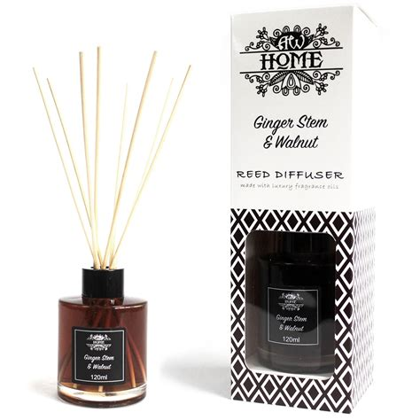 Stem Boxed Scent Diffuser Transitional 120ml Reed Diffuser Stem Walnut Ancient