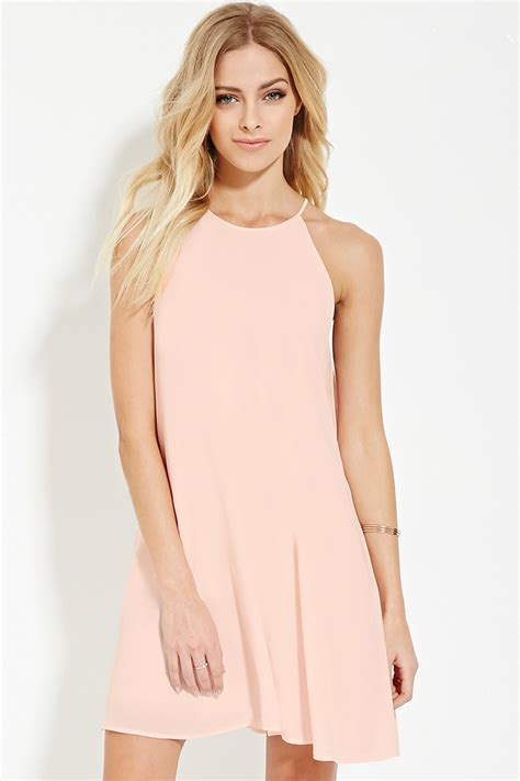 Dress Ghifa Pink 1 lyst forever 21 contemporary a line dress in pink