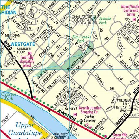 map of kerrville texas kerrcofcmappage21