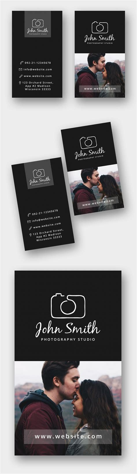 Photographer Visiting Card Templates Psd by Freebie Minimal Photographer Business Card Psd Template